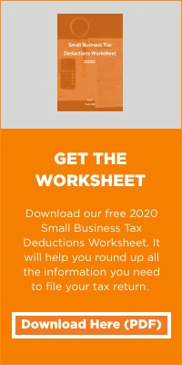 Download our free 2020 Small Business Tax Deductions Worksheet. Our small business tax preparation checklist will help you round up all the information you need to file your business tax return accurately and easily. And our automated bookkeeping solution can help you stay organized year-round.
