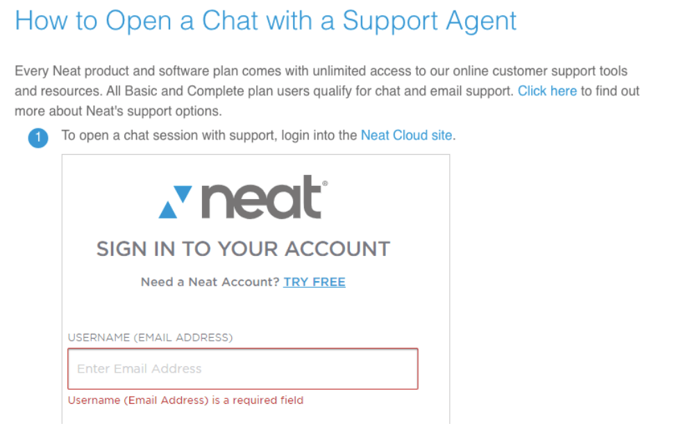 Open a Chat wih a Support Agent - How to Improve Your Customer Support - The Neat Company Blog - Resources for Small Business